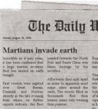 The article on a Martian invasion