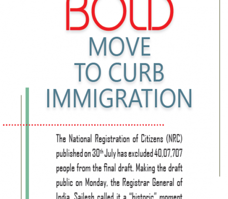 BOLD MOVE TO CURB IMMIGRATION