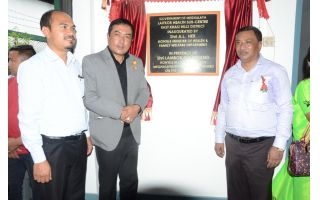 Health Minister inaugurated Laitkor Health Center