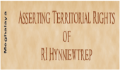 Asserting Territorial Rights of RI Hynniewtrep