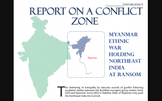 Report of a Conflict Zone  Myanmar Ethnic War Holding Northeast India At Ransom