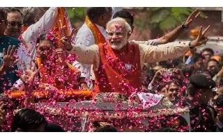 FLAMBOYANT MODI SETS INDIA ABLAZE IN HIS OWN INIMITABLE STYLE