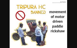 Tripura HC banned movement of motor driven paddle rickshaw